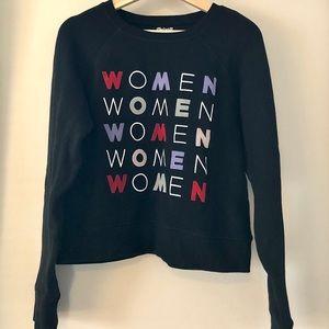 Madewell/Girls Inc. Graphic Shrunken Sweatshirt